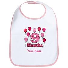 Nine Months - Baby Milestones Bib