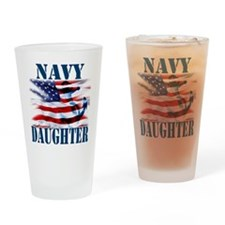 Navy Daughter Drinking Glass