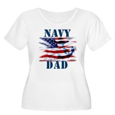 Navy Dad Plus Size T-Shirt