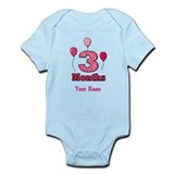 Three Months - Baby Milestones Body Suit