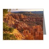 Queens Garden hoodoos at sun Note Cards (Pk of 10)