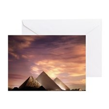 The Pyramids at Giza ill Greeting Cards (Pk of 10)