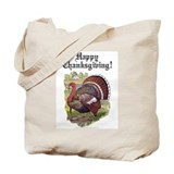 Antique Thanksgiving Turkey Tote Bag