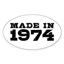 Made In 1974 Decal