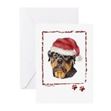 Happy Holidays Rottweiler Greeting Cards