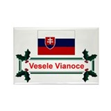 Slovak Vesele Vianoce Rectangle Magnet