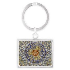 Detail in a mosque Landscape Keychain