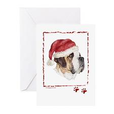 Happy Holidays Saint Bernard Greeting Cards
