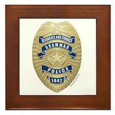 Grammar Police Framed Tile