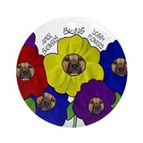 Doggy Flowers Ornament (Round)