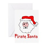 Senor Pirate Santa Greeting Cards (Pk of 10)