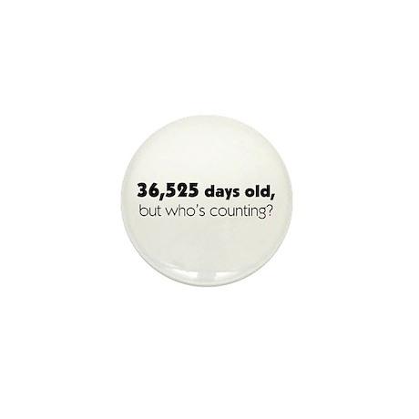 100th Birthday Mini Button