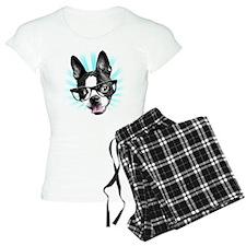 Cute! Hipster Boston Terrier Pajamas