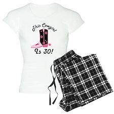 30th Birthday Cowgirl Pajamas