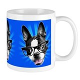 Cute! Hipster Boston Terrier  Tasse