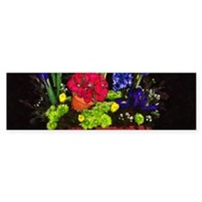 Flowers In Terra Cotta Bumper Bumper Sticker