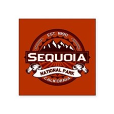 "Sequoia NP Crimson.png Square Sticker 3"" x 3"""