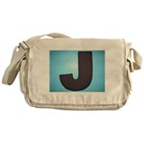 THE LETTER J Messenger Bag