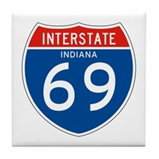Interstate 69 - IN Tile Coaster
