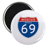 "Interstate 69 - IN 2.25"" Magnet (10 pack)"