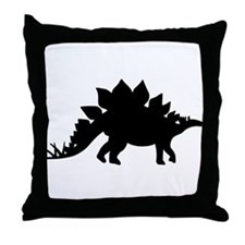 Dinosaur Stegosaurus Throw Pillow