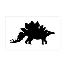 Dinosaur Stegosaurus Rectangle Car Magnet
