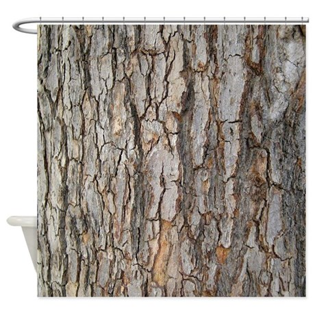 Tree Bark Texture Shower Curtain by jqdesigns