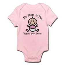 Baby Girl Stick Figure Best Mom Onesie