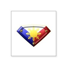 "Super Pinoy 3"" Lapel Sticker (48 pk) Sticker"