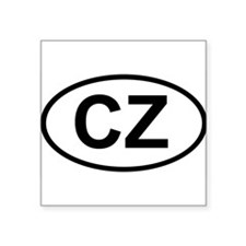 CZ Oval Sticker