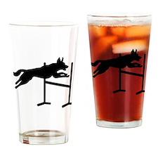 Dog agility sports Drinking Glass