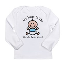 Baby Boy Stick Figure Best Mom Long Sleeve Infant