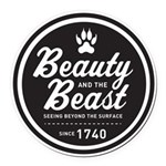 Beauty and the Beast Since 1740 Round Car Magnet
