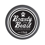 Beauty and the Beast Since 1740 Wall Clock