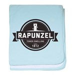 Rapunzel Since 1812 baby blanket