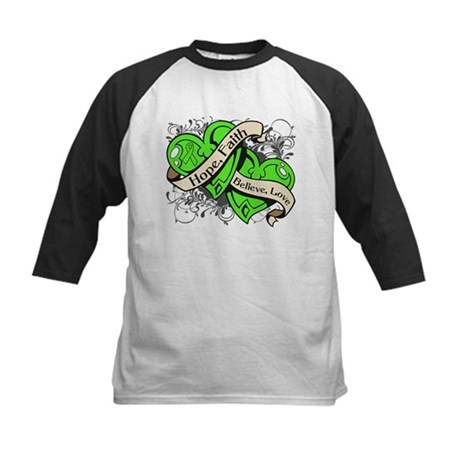 Lyme Disease Hope Dual Heart Kids Baseball Jersey