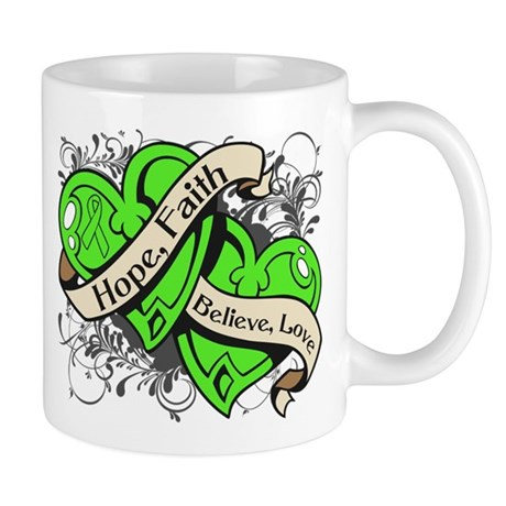 Lyme Disease Hope Dual Heart Mug