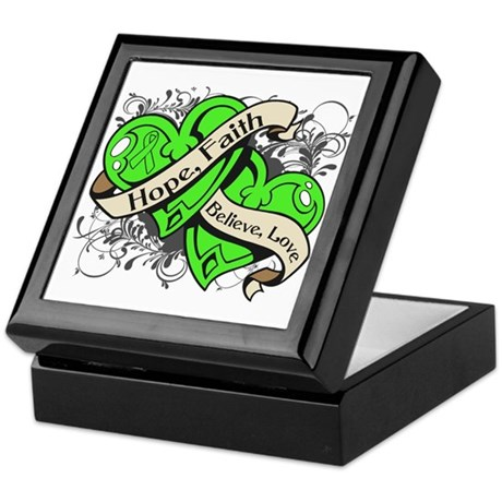 Lyme Disease Hope Dual Heart Keepsake Box