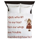 friends are angels Queen Duvet