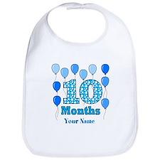 10 Months - Blue Polka Dot Bib
