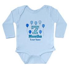 7 Months - Blue Polka Dot Body Suit