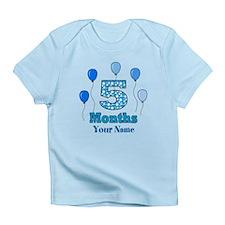 5 Months - Blue Polka Dot Infant T-Shirt