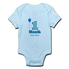 1 Month - Blue Polka Dot Body Suit