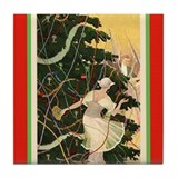Art Deco Flapper Holiday Tile Coaster
