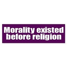 MORALITY... Bumper Car Sticker
