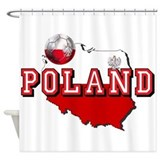 Polish Flag Map Shower Curtain