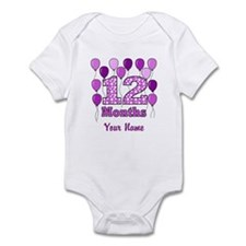 12 Months - Purple Polka Dot Body Suit