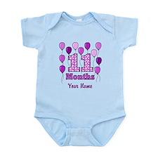 11 Months - Purple Polka Dot Body Suit