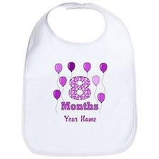 8 Months - Purple Polka Dot Bib