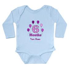 6 Months - Purple Polka Dot Body Suit
